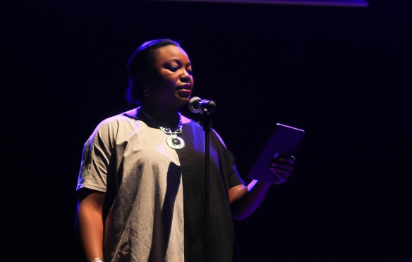 Spoken Word Poet, Donna Ogunaike performing...